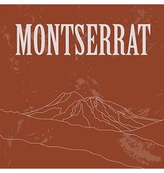 Montserrat landmarks retro styled image vector