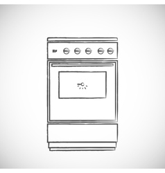 Old vintage oven vector image vector image