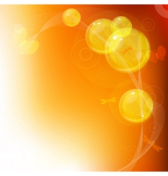 Orange bubbles background vector image