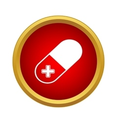 Pill icon simple style vector image