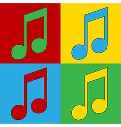 Pop art music icons vector