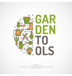 Poster of gardening vector image