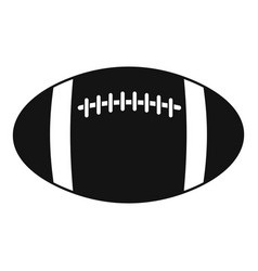 rugby ball icon simple style vector image vector image