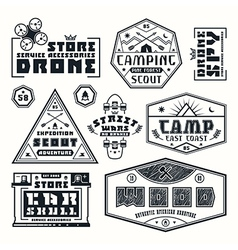 Set of emblems for t shirt vector