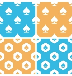 Spades pattern set colored vector