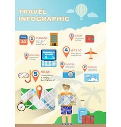 Vacation planner flat summer infographics vector