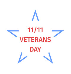 veterans day emblem from star vector image