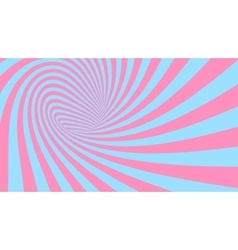 Striped spiral abstract tunnel background vector