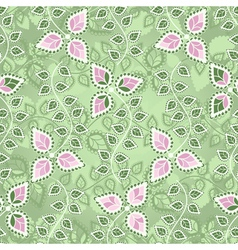 Pastel seamless floral pattern vector