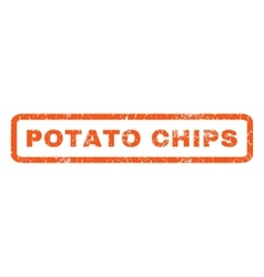 Potato chips rubber stamp vector