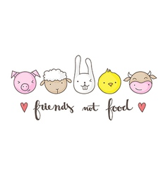 friends not food vector image