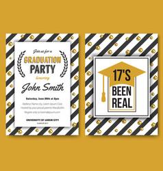 Graduation party template invitation vector