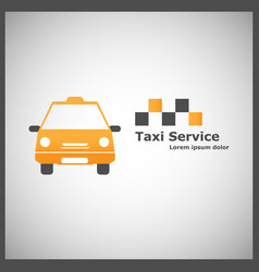 logotype for taxi service vector image