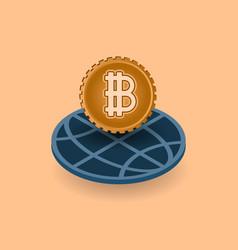 Crypto currency monetary financial vector