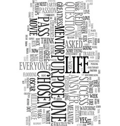 You are the chosen one text word cloud concept vector