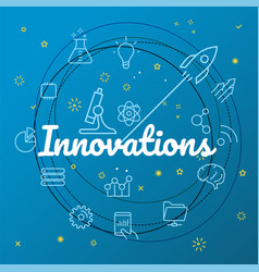 innovations concept different thin line icons vector image