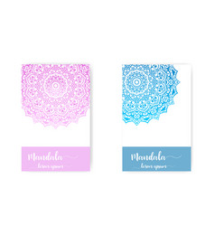 Card with mandala decorative elements vector