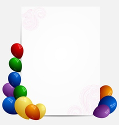 Abstract banner with balloons vector image