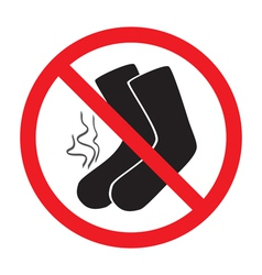 sign ban smelly socks vector image