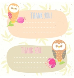 Owls frame vector