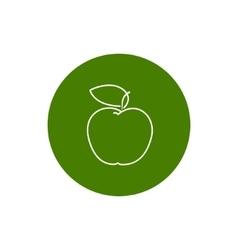 Icon apple in the contours vector