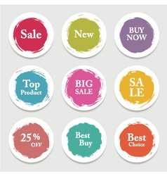 Colorful paper circle sticker label banner with vector