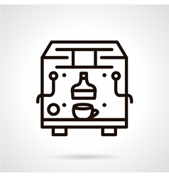 Black line coffee machine icon vector