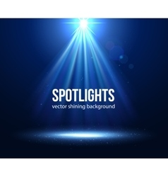 Scene illuminated spotlight dark spotlight vector