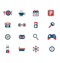 Hotel simply icons vector