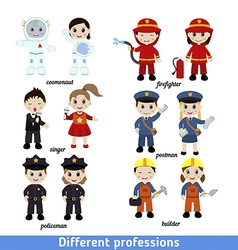 Kids professions vector
