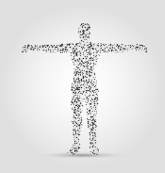 Human body made of dots and lines vector