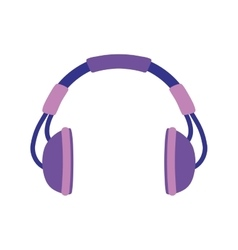 Headphones design music and sound icon vector