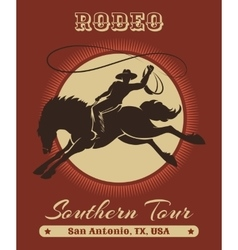 Rodeo cowboy poster vector