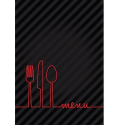 black a4 menu vector image