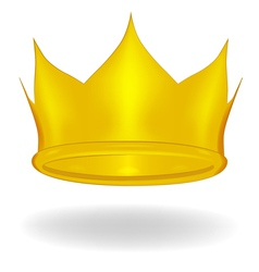 Cartoon crown isolated vector image vector image