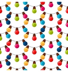 Celebration festive seamless pattern with garland vector image vector image