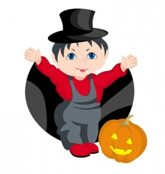 child Halloween vector image vector image