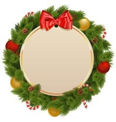 Christmas Greeting Concept vector image