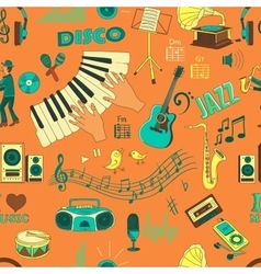 Colored hand draw music pattern vector image vector image