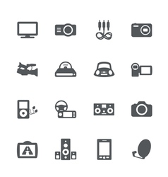 Electronics icon set vector image