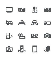 Electronics icon set vector image vector image