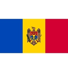 Flag of Moldova in correct size and colors vector image vector image