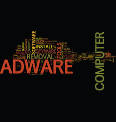 Free adware removal text background word cloud vector
