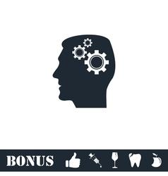 Gear head icon flat vector image