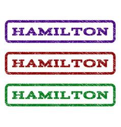 Hamilton watermark stamp vector