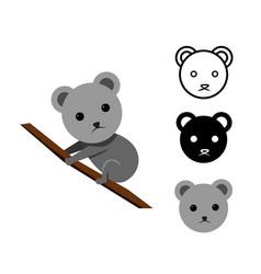 koala bear in flat and icon vector image
