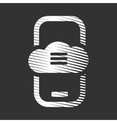 Mobile cloud storage service icon vector