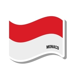 Monaco patriotic flag isolated icon vector