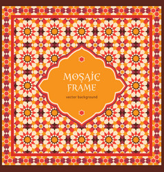 mosaic frame vector image vector image