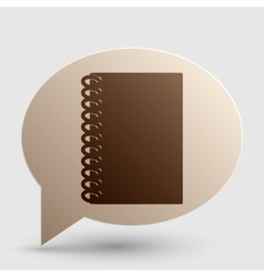 Notebook simple sign Brown gradient icon on vector image vector image